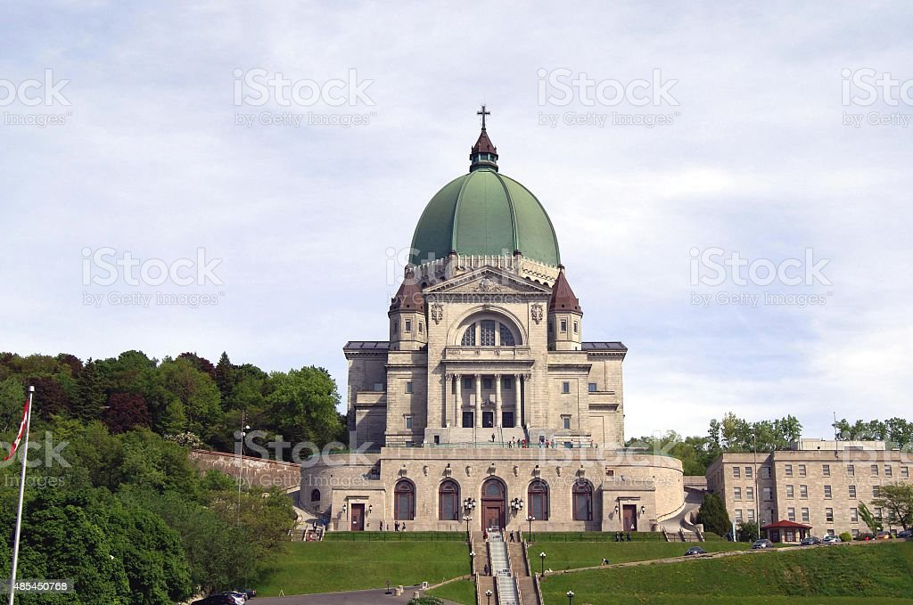Saint Joseph's Oratory of Mount Royal in Canada stock photo