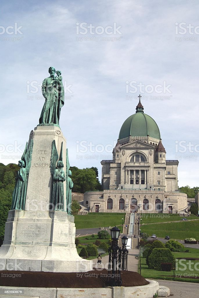 Saint Joseph's Oratory of Mount Royal in Montreal Canada stock photo