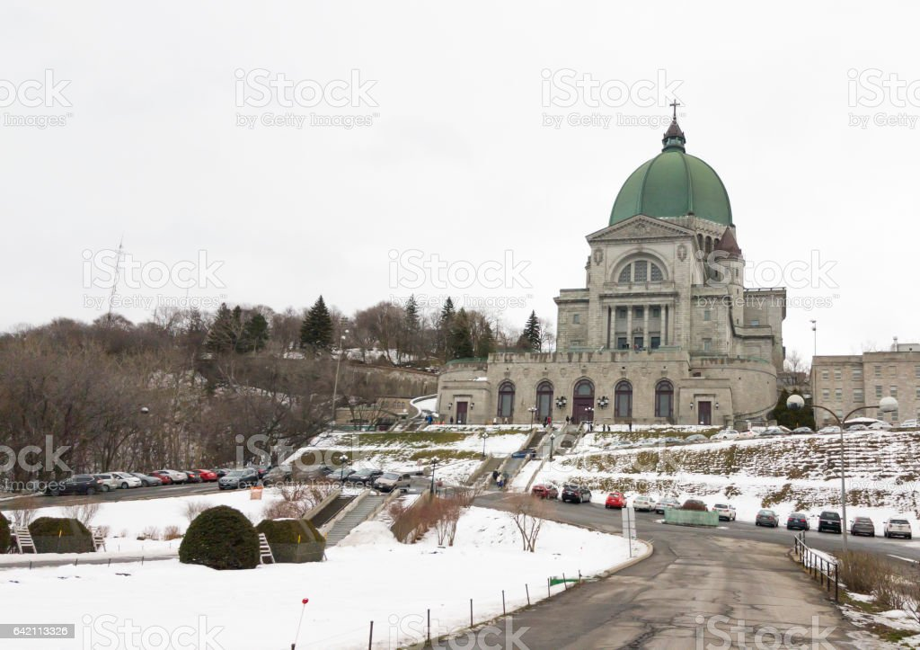 Saint Joseph's Oratory of Mount Royal in Montreal, Quebec Canada. stock photo