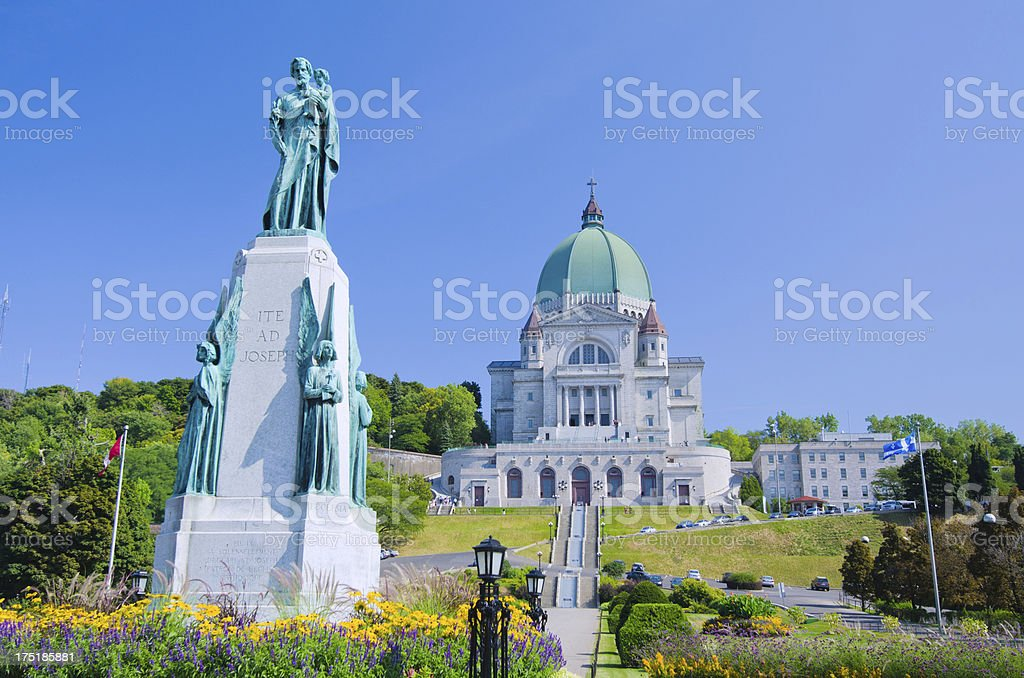 Saint Joseph's Oratory of Mount Royal in Montreal, Quebec stock photo