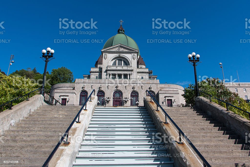 Saint Joseph's Oratory of Mount Royal in summer stock photo