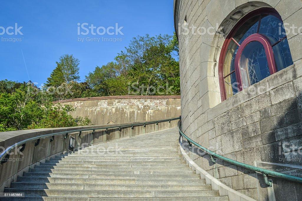 Saint Joseph's Oratory staircase stock photo