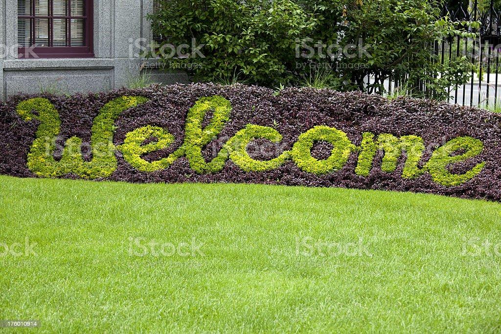 'Saint Joseph's Oratory, Welcome Greeting Sign, Montreal Canada' stock photo