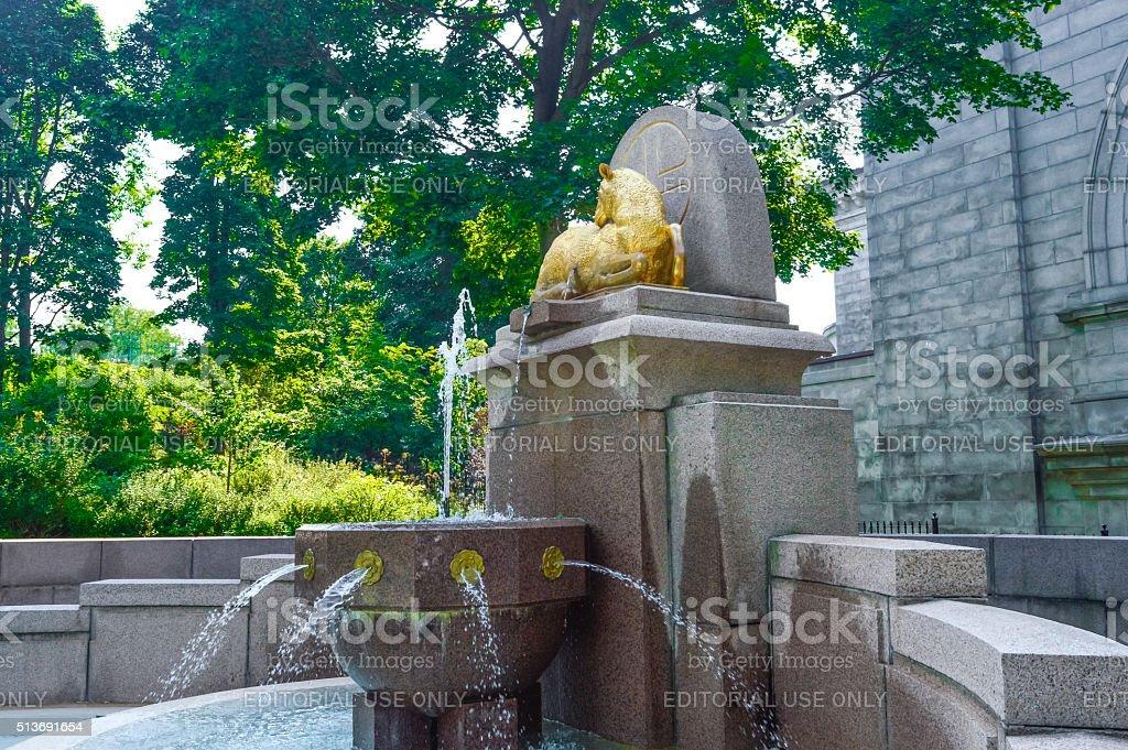 Saint Joseph's Oratory's fountain stock photo