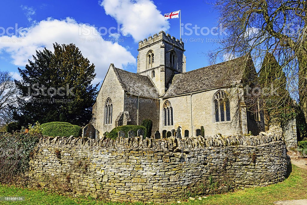 'Saint Kenelms Church in Minster Lovell, Oxfordshire, England' stock photo