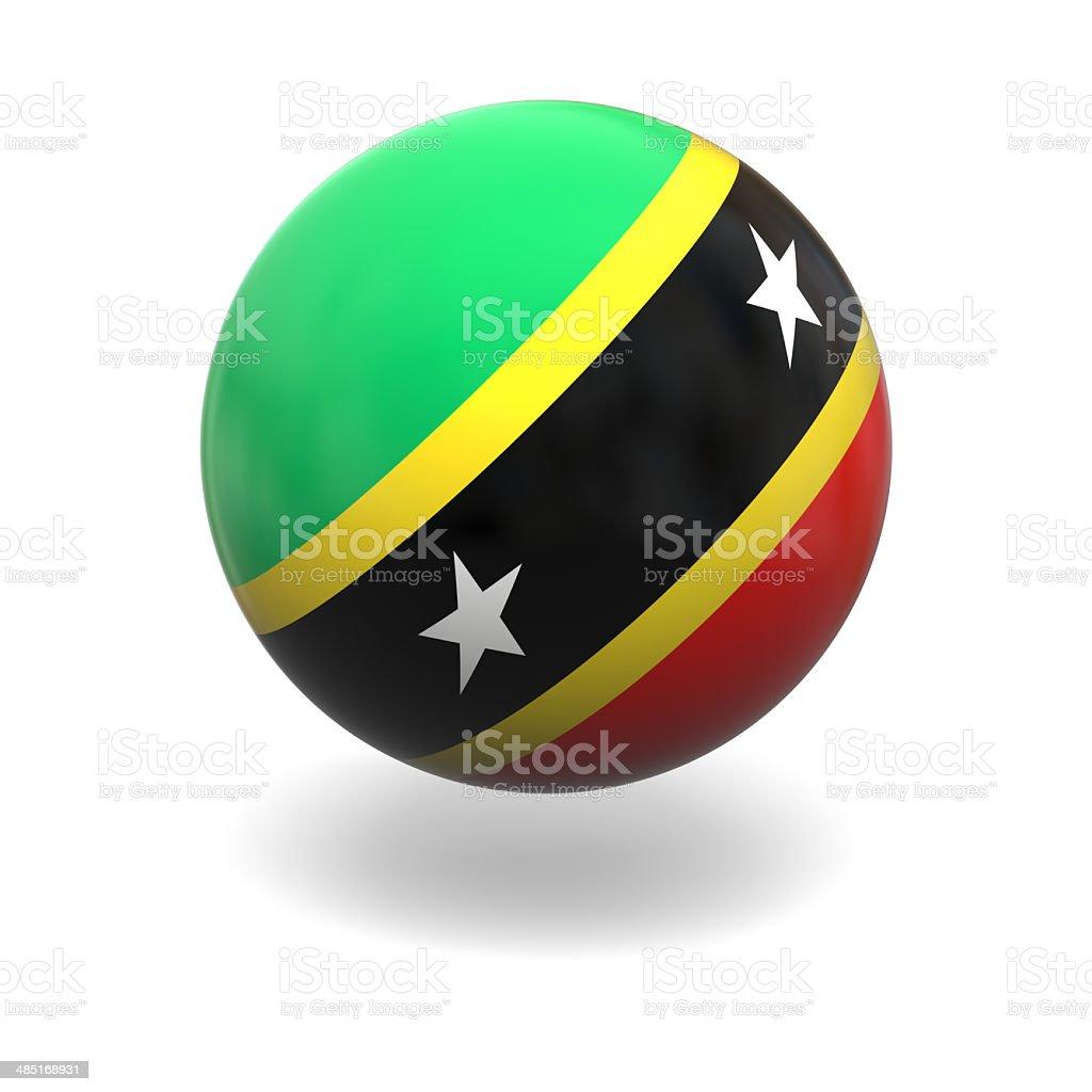 Saint Kitts flag royalty-free stock photo