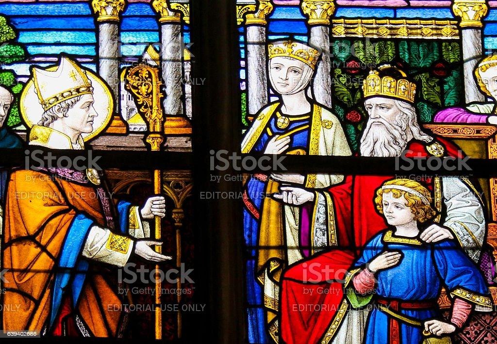Saint Lambert of Maastricht stock photo
