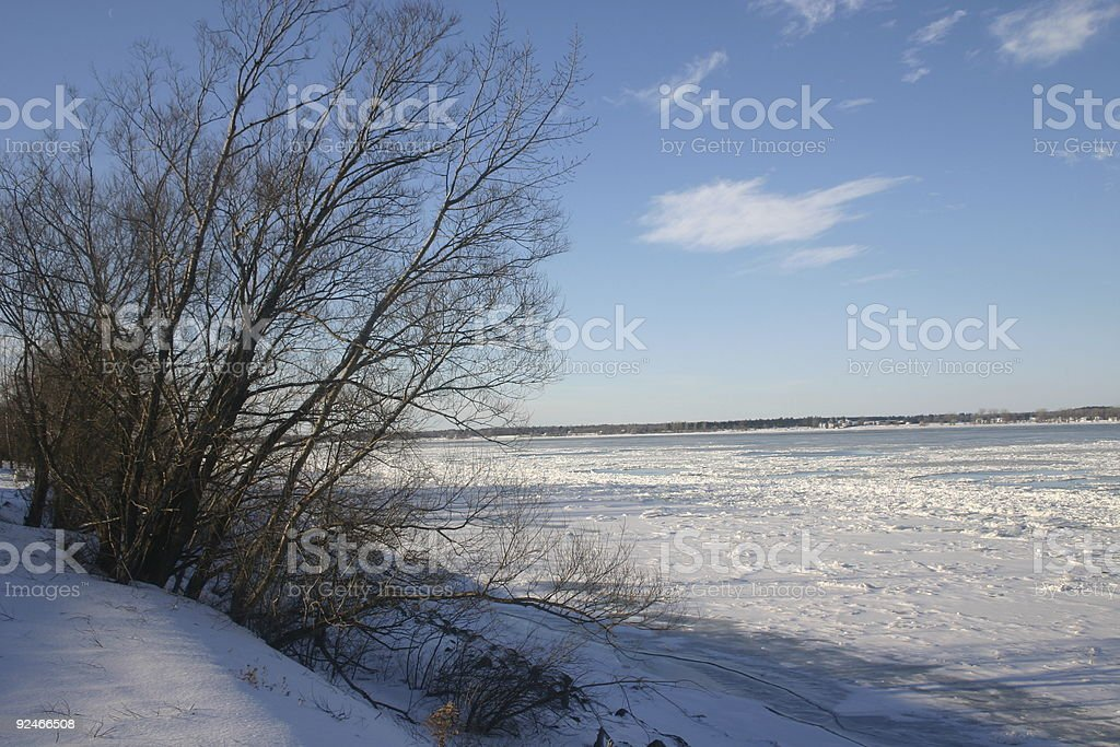 Saint Laurent river in winter royalty-free stock photo
