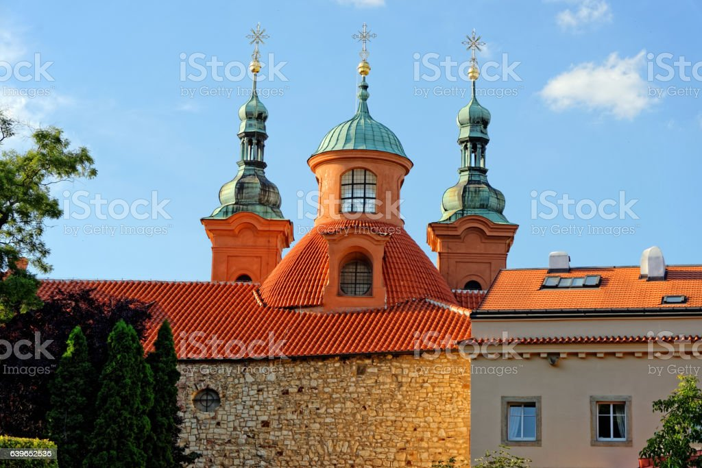 Saint Lawrence Cathedral church, Prague, Czech Republic. stock photo