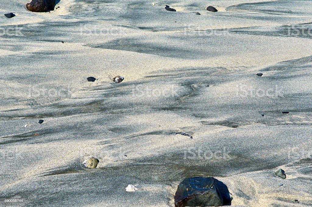 Saint Leu beach sand - La Reunion Island stock photo
