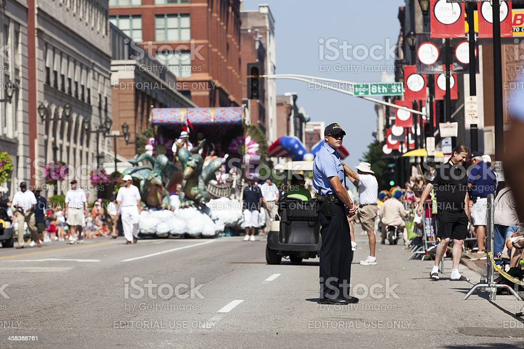 Saint Louis 4th of July Parade Police Presence royalty-free stock photo