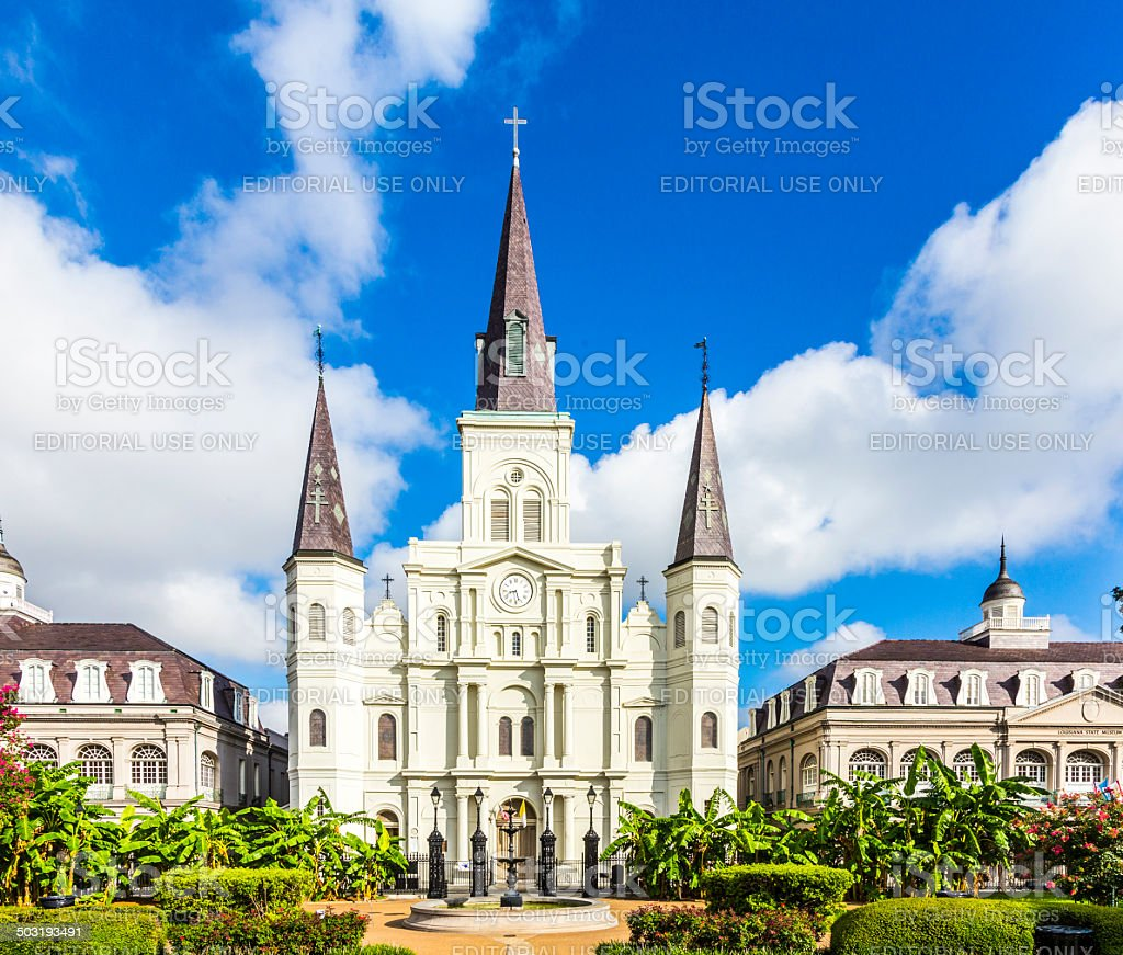 Saint Louis Cathedral in New Orleans stock photo