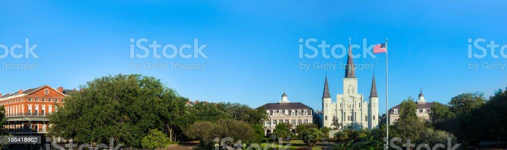 Saint Louis Cathedral Panorama stock photo