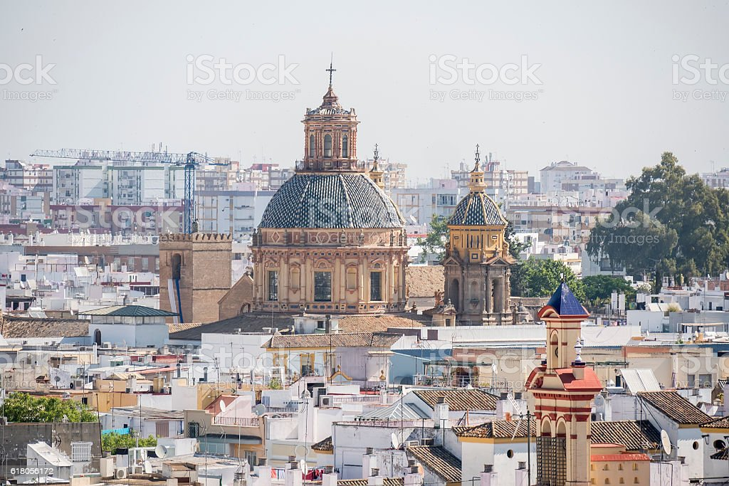 Saint Louis of the French church, Seville, Spain stock photo