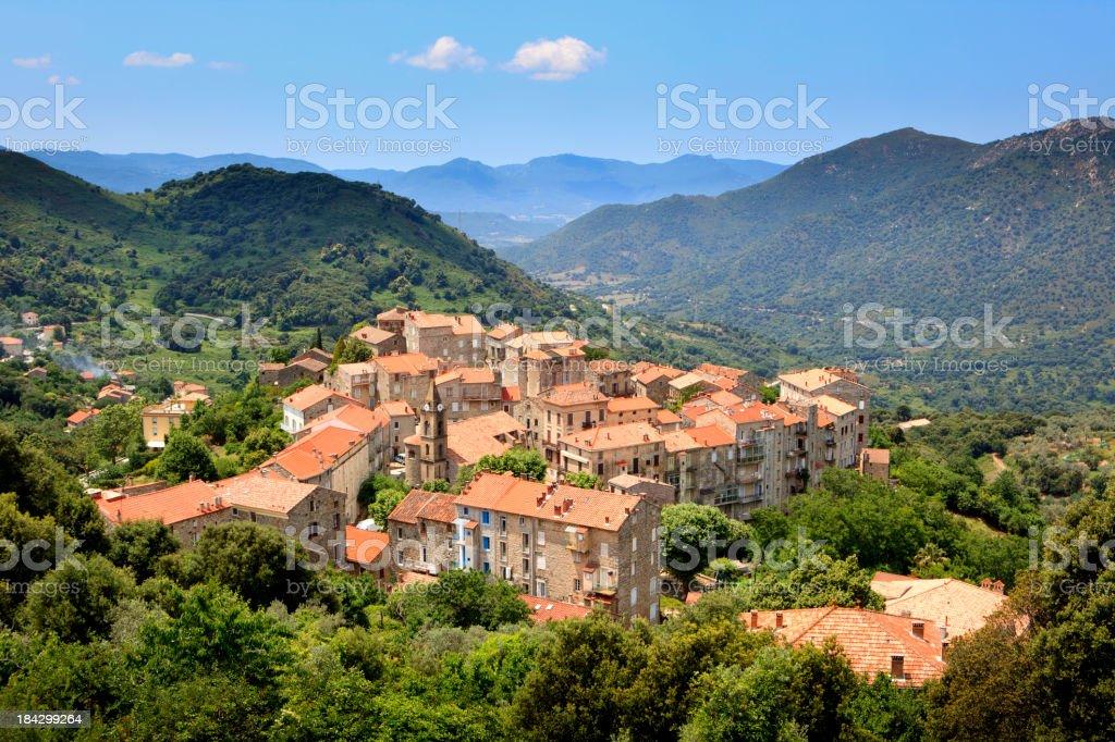 Sainte-Lucie-de-Tallano, Corsica, France stock photo