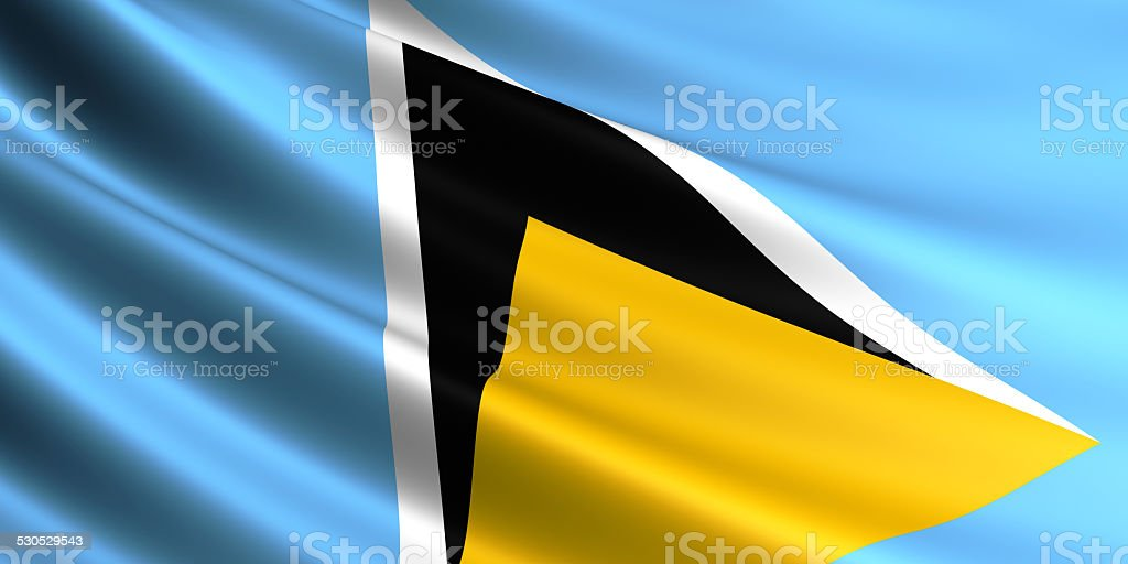 Saint Lucia flag. royalty-free stock photo