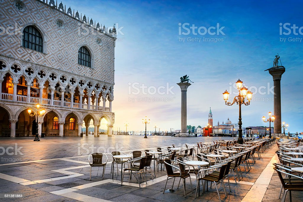 Saint Mark square Venice stock photo