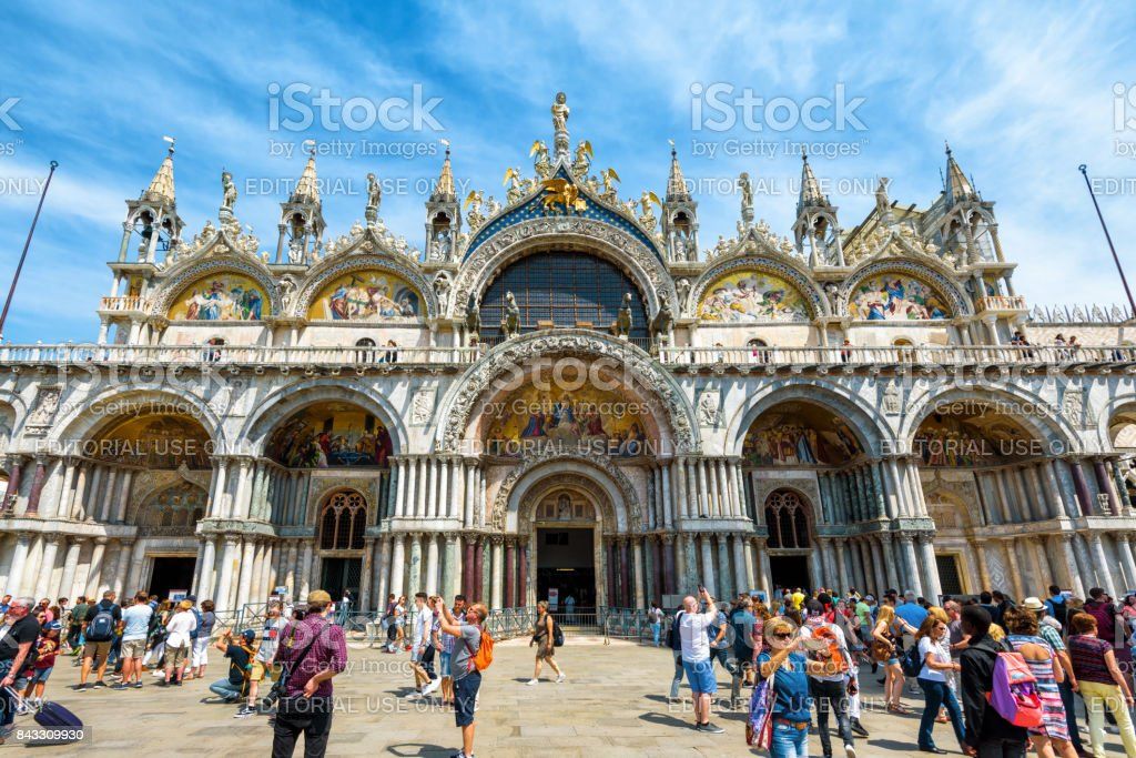 Saint Mark`s Basilica in Venice, Italy stock photo