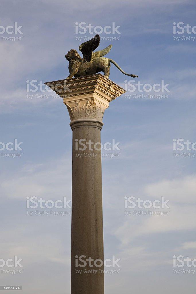 Saint Mark's column, Venice royalty-free stock photo