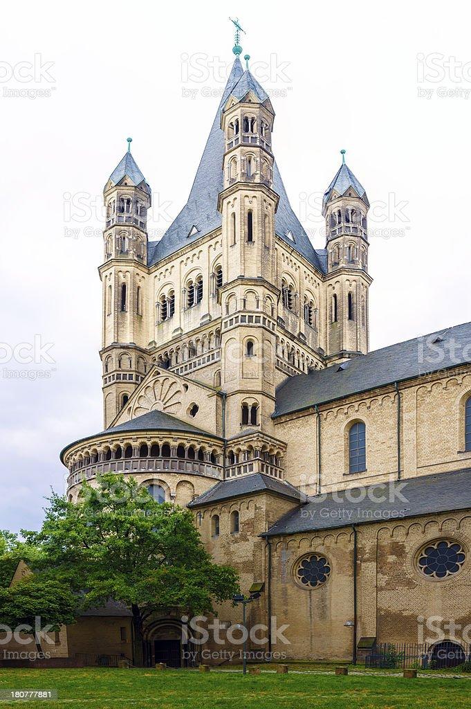 Saint Martin Church, Colonia Germany stock photo