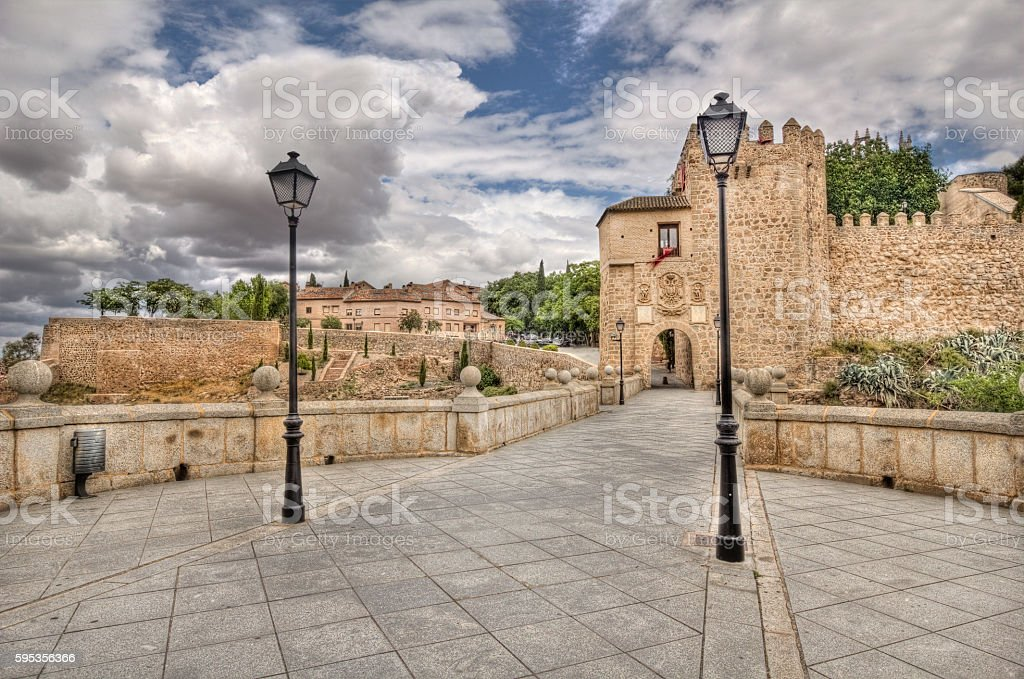 Saint Martin's bridge in Toledo, Spain stock photo