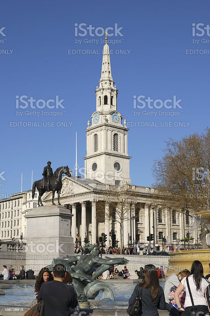 Saint Martins in the Fields church. London. England royalty-free stock photo