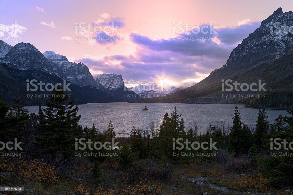 Saint Mary Lake, Glacier National Park royalty-free stock photo