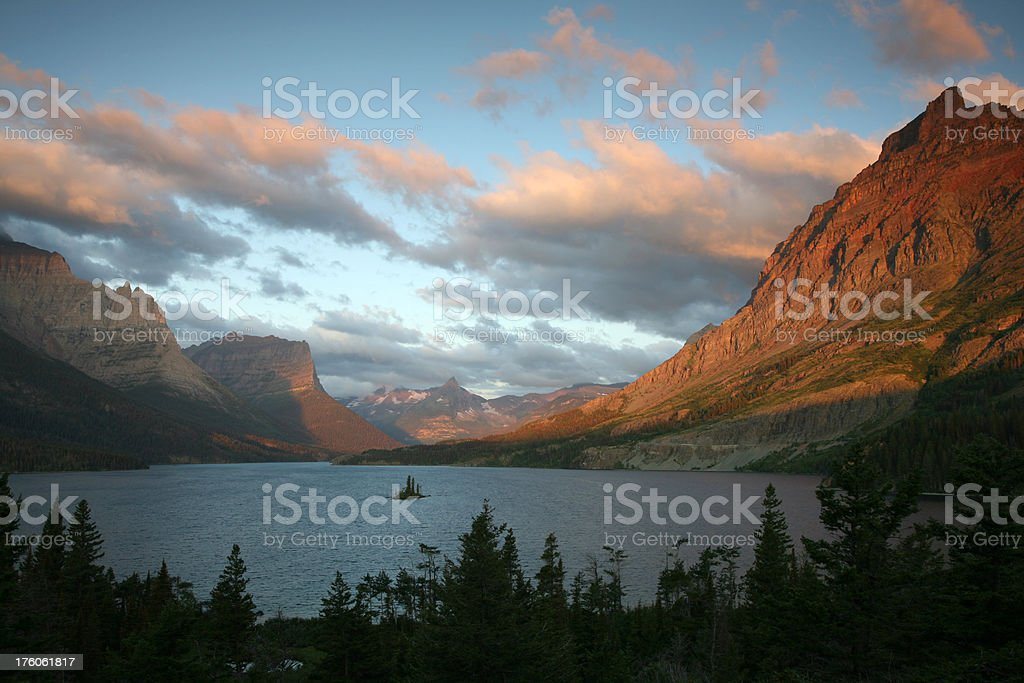 Saint Mary Lake, Glacier National Park stock photo