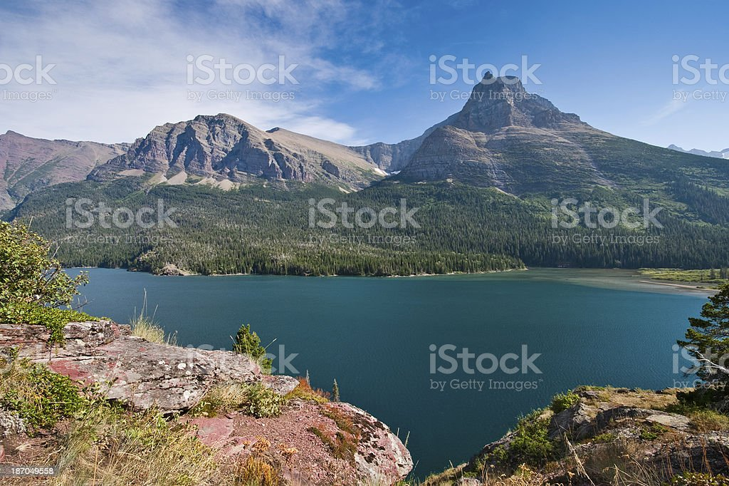 Saint Mary Lake royalty-free stock photo