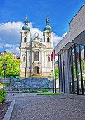 Saint Mary Magdalene Church and Promenade of Karlovy Vary