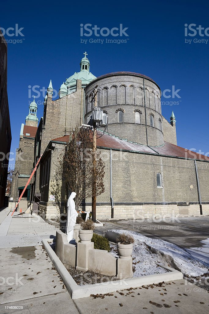 Saint Mary of Perpetual Help in Chicago stock photo
