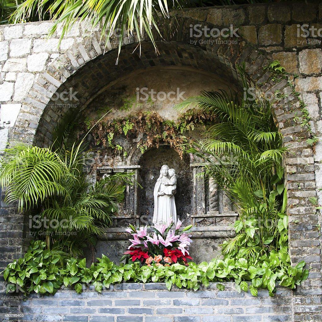 Saint Mary Statue royalty-free stock photo