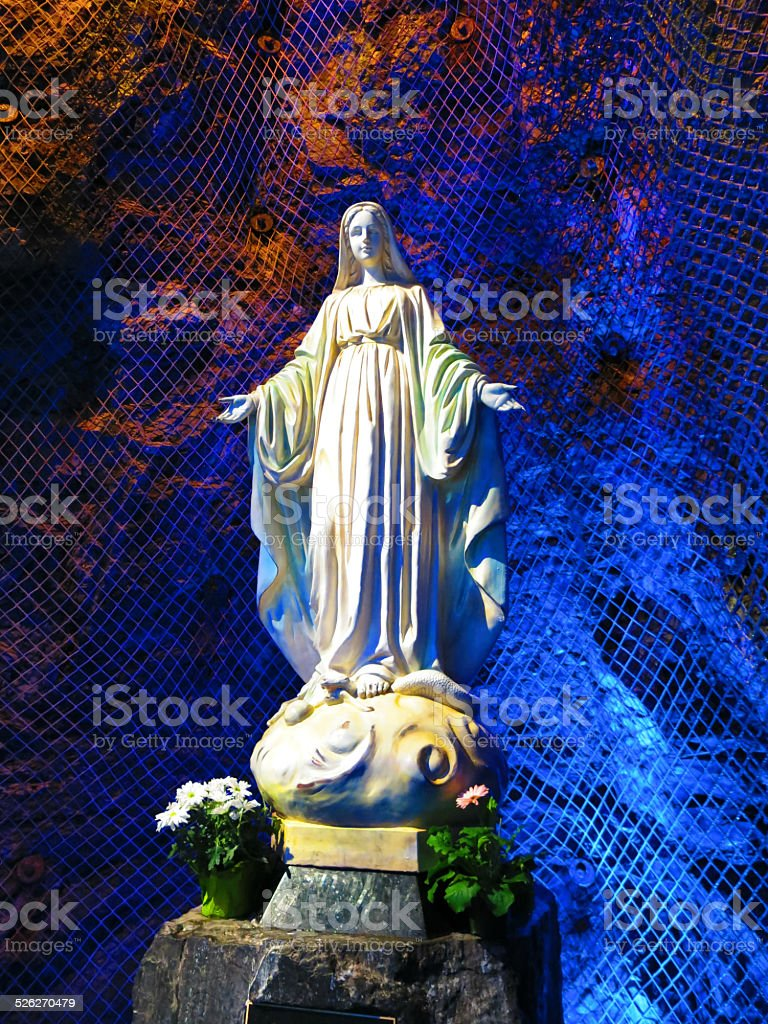 Saint Mary Statue Underground in Saint Joseph's Oratory, Montreal stock photo