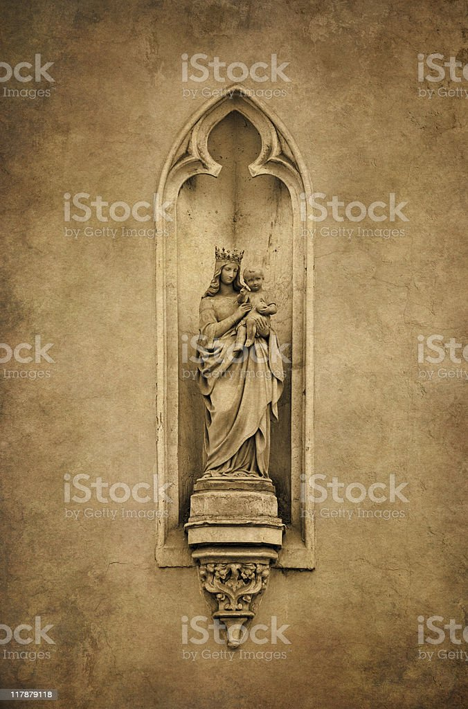 Saint Mary with the child Jesus royalty-free stock photo