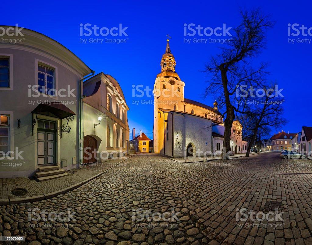 Saint Mary's Cathedral and Kiriku Plats on Toompea Hill stock photo