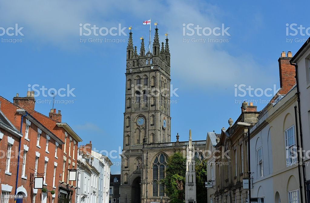 Saint Mary's church, Warwick stock photo