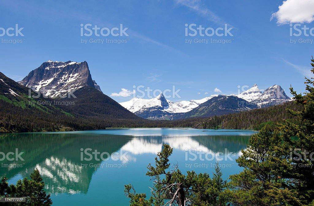Saint Mary's Lake royalty-free stock photo