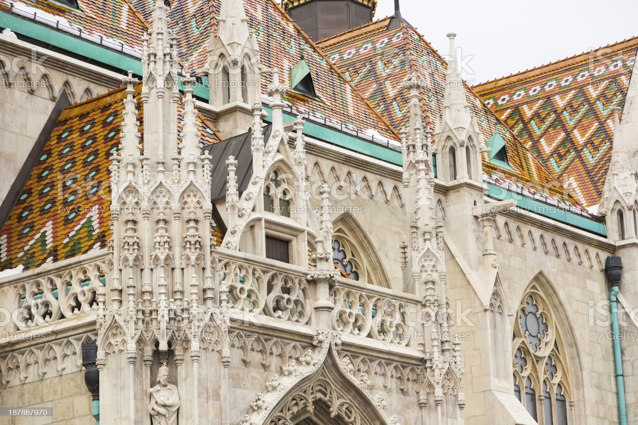 Saint Matthias Church in Budapest royalty-free stock photo