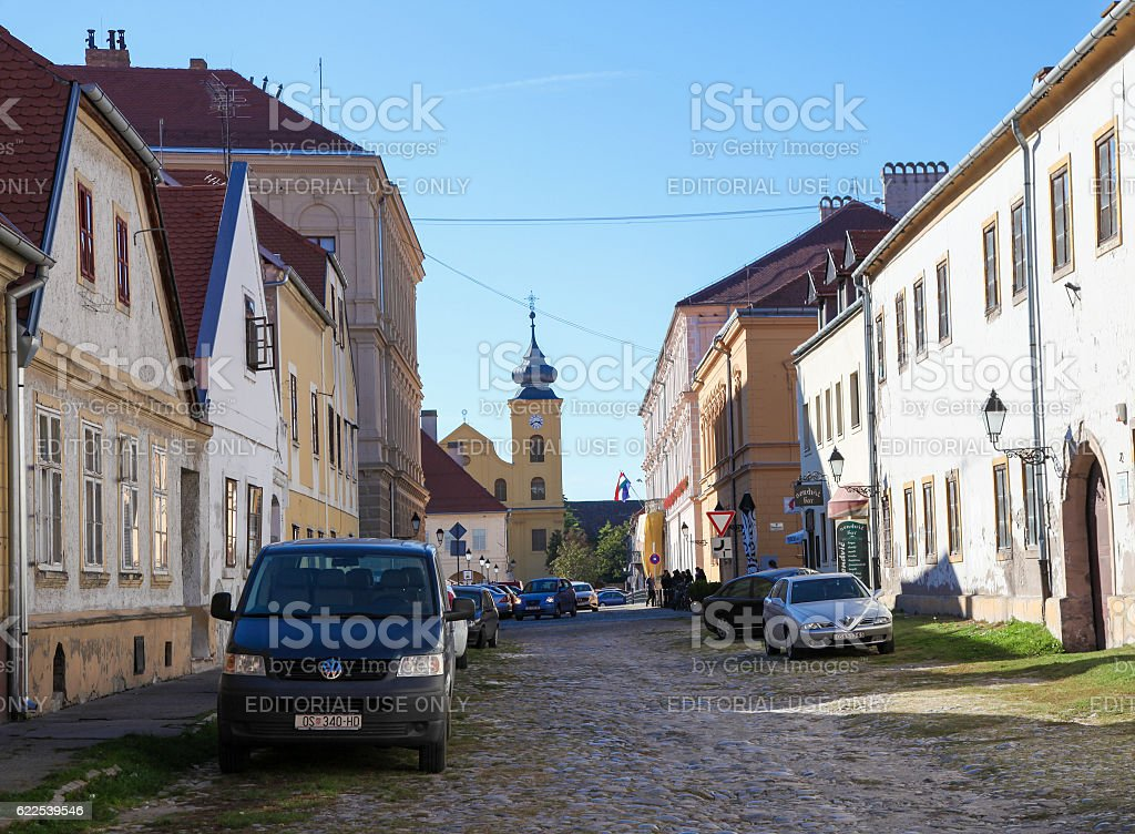 Saint Michael Church in Tvrdja, Osijek, Slavonia, Croatia stock photo