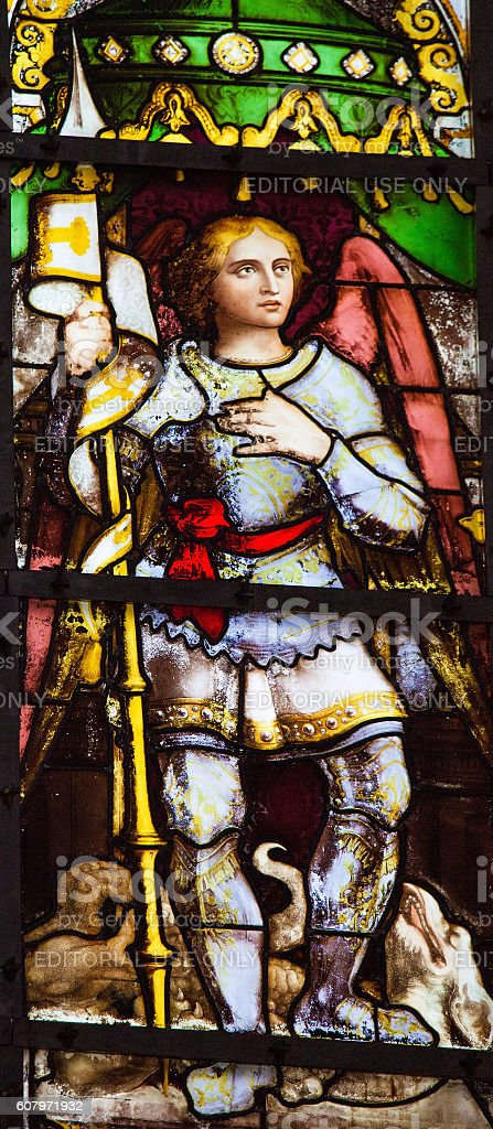 Saint Michael stock photo