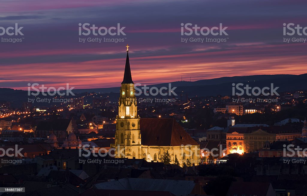 Saint Michael's Cathedral at dawn royalty-free stock photo