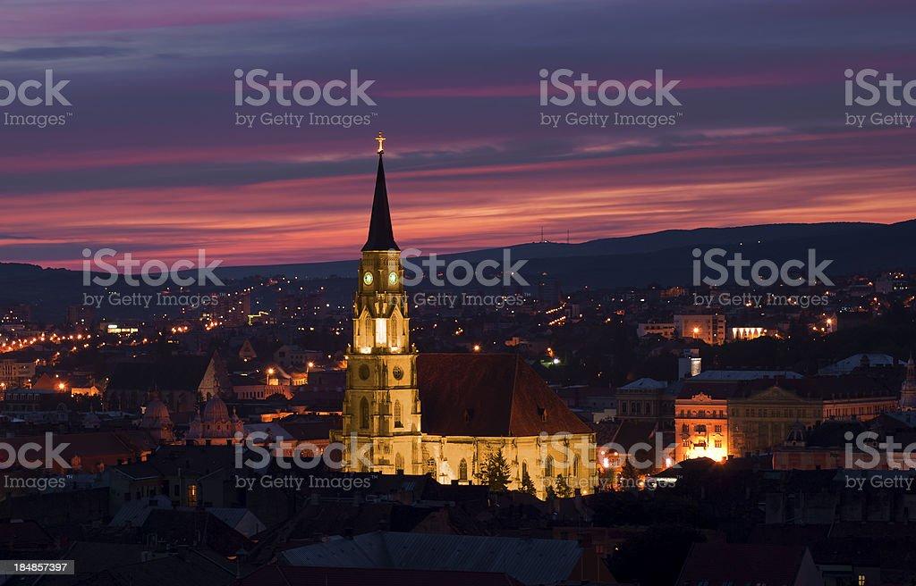 Saint Michael's Cathedral at dawn stock photo