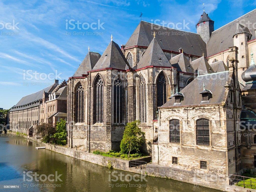 Saint Michael's Church, Gent, Belgium stock photo