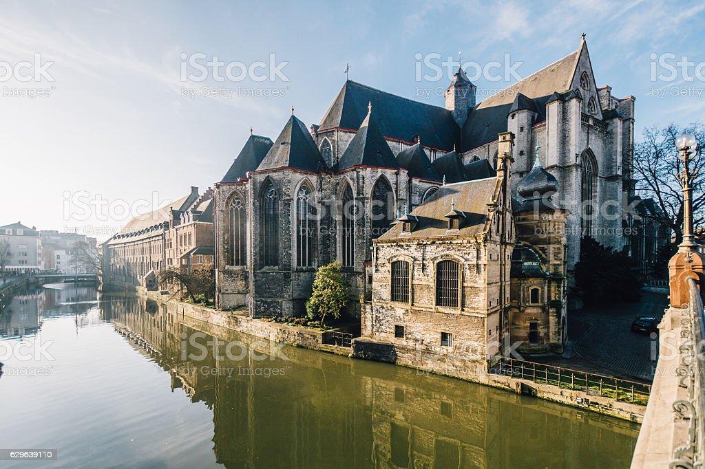 Saint Michael's Church, Ghent, Belgium stock photo