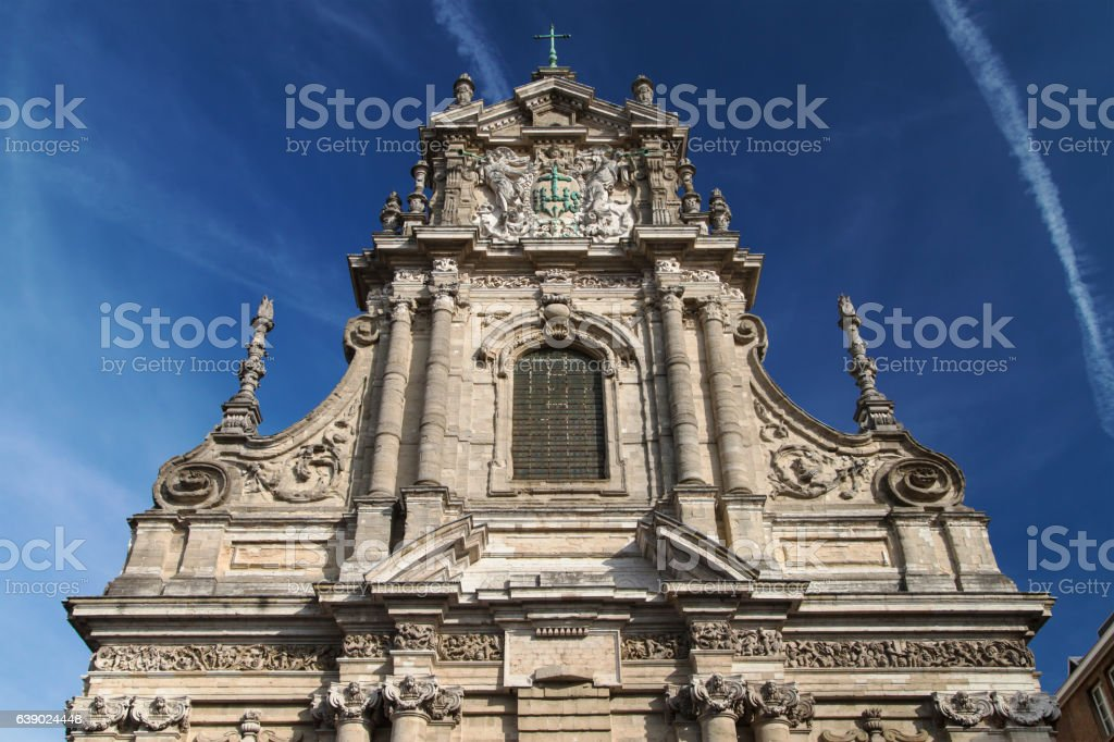 Saint Michael's Church in Leuven stock photo