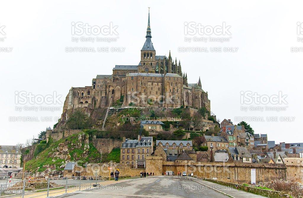 Saint Michael's Mount. Normandy, France. stock photo