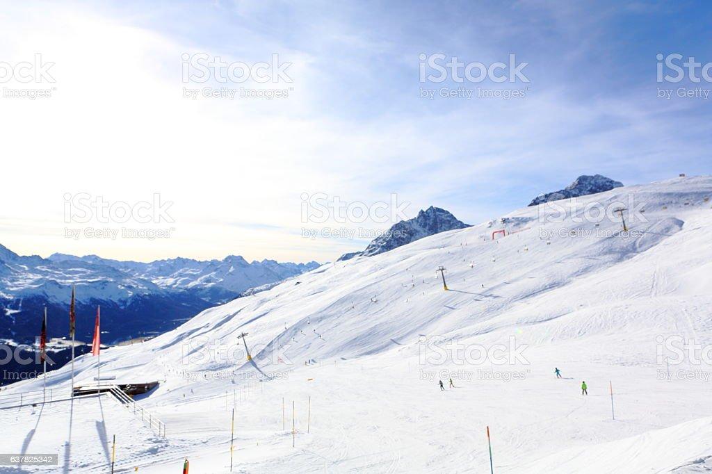 Saint Moritz Corviglia stock photo