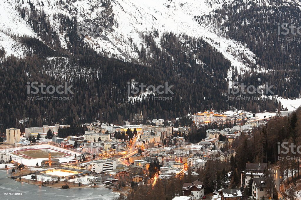 Saint Moritz From Top stock photo