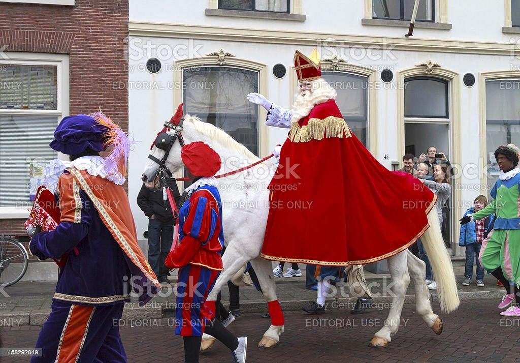 Saint Nicholas and Zwarte Piet royalty-free stock photo
