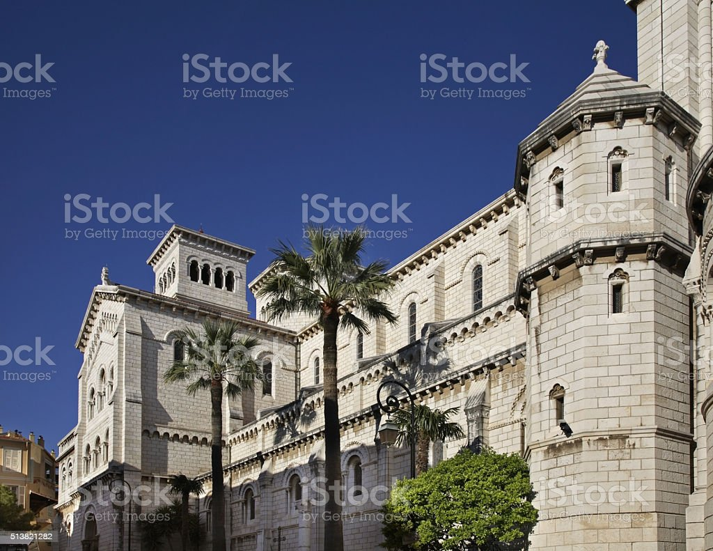 Saint Nicholas Cathedral in Monaco-Ville. Principality of Monaco stock photo